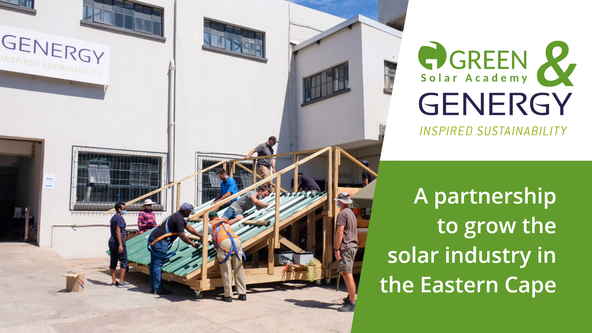 GREEN and Genergy – A partnership for solar growth and empowerment in the Eastern Cape